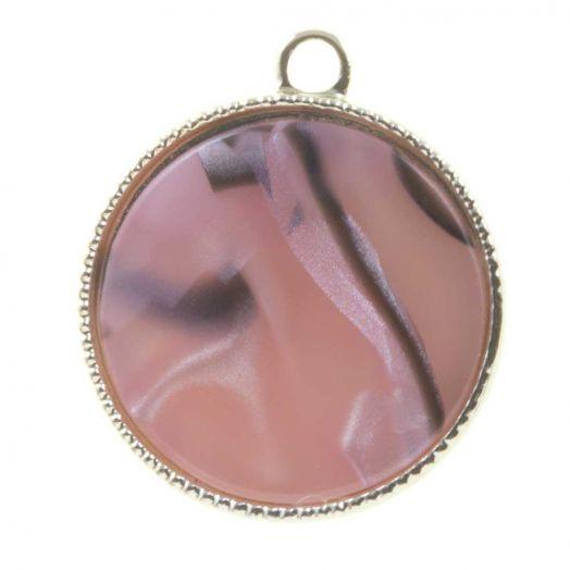 Hanger Acryl (23 x 20 x 3.5 mm) Pink Rose (3 Stuks)
