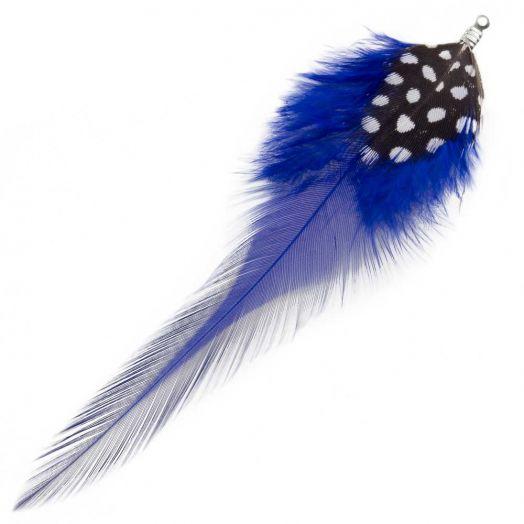 Veertjes (10 cm) Dots Royal Blue (10 Stuks)
