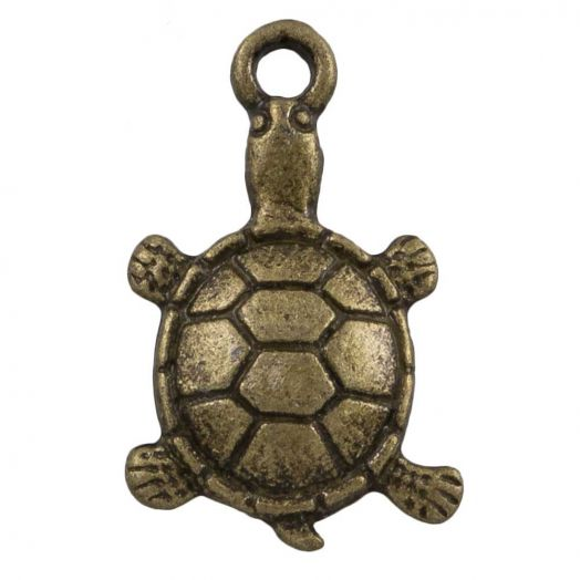 Bedel Schildpad (11 x 7 mm) Brons (25 Stuks)
