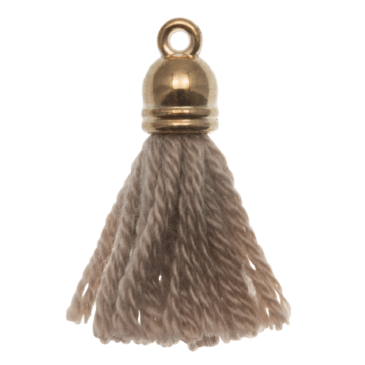 Kwastjes (20 mm) Cedar / Goud (5 Stuks)