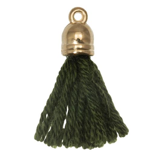 Kwastjes (20 mm) Seaweed / Goud (5 Stuks)
