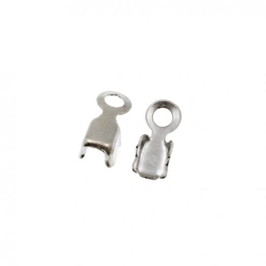 Rhinestone Ketting Klem (2.4 mm) Zilver (20 Stuks)