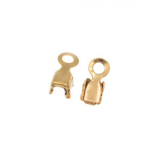 Rhinestone Ketting Klem (2 mm) Goud (20 Stuks)