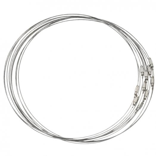 Halsketting Schroefslot (10 Stuks) 50 cm (Zilver)