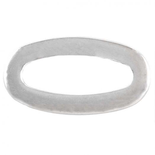 Stainless Steel Gesloten Ringen (buitenmaat 17 x 9.5 mm binnenmaat 12 x 4 mm) Antiek Zilver (5 stuks)