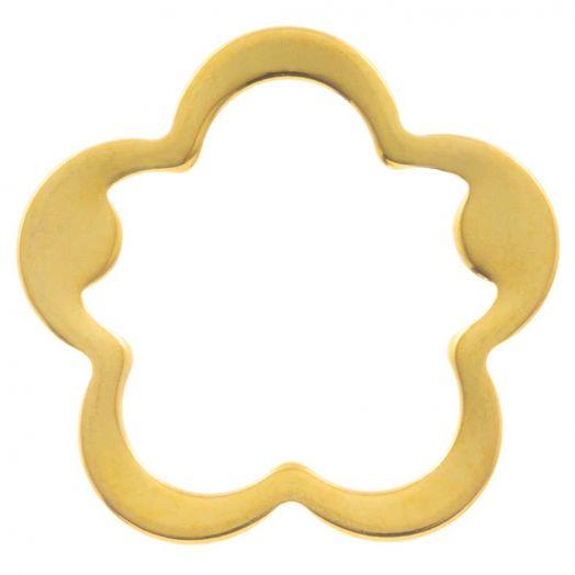 Stainless Steel Gesloten Ringen (buitenmaat 21.5 mm binnenmaat 17 mm) Goud (5 stuks)