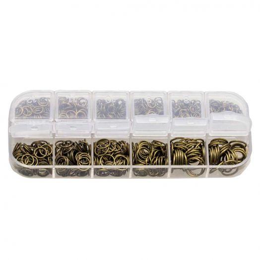 Voordeelpakket - Buigringen Box (6 verschillende maten) Brons
