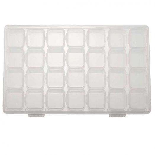 Opbergbox met 28 vakjes (ca.17,5 x 10,5x 2,5 cm)