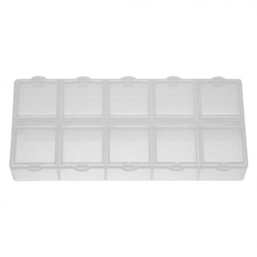 Opbergbox met 10 vakjes (ca. 13,3 x 5,8 x 2 cm)