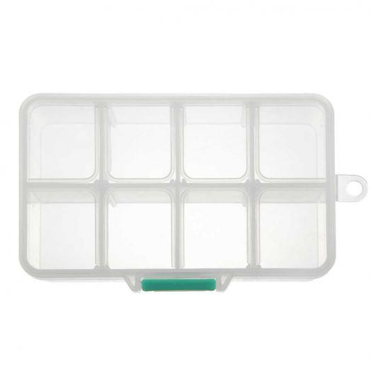 Opbergbox met 8 vakjes (ca.11 x 7 x 3 cm)