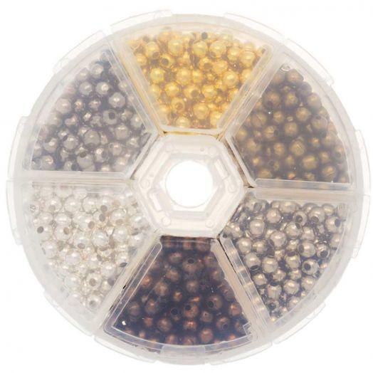 Voordeelpakket - Metalen Kralen (4 mm) Mix Color (940 Stuks)