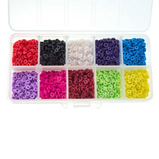 Voordeelpakket - Polymeer Kralen (4 x 1 mm) Mix Color (4000 Stuks)