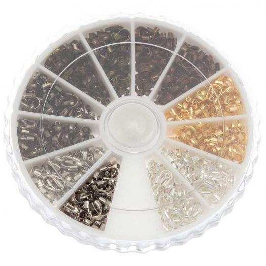Voordeelpakket - Draadbeschermers (5 x 4 x 1 mm) Mix Color (540 stuks)