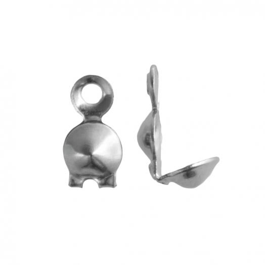 Kalotje (4 mm) Antiek Zilver (25 Stuks)