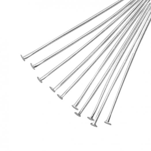 Nietstiften (50 mm) Antiek Zilver (100 Stuks) Dikte 0.6 mm