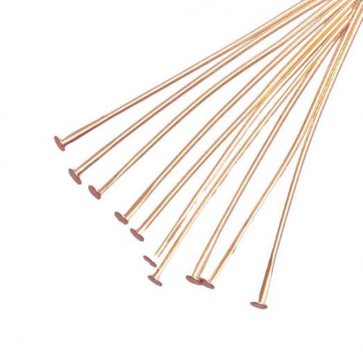 Nietstiften (50 mm) Goud (100 Stuks) Dikte 0.6 mm