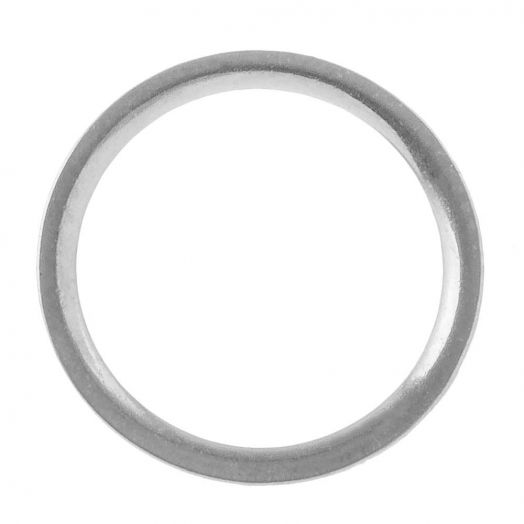 Stainless Steel Gesloten Ringen (buitenmaat 12 mm binnenmaat 10 mm) Antiek Zilver (10 stuks)