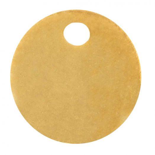 Stainless Steel Bedel (8 mm) Goud (10 Stuks)