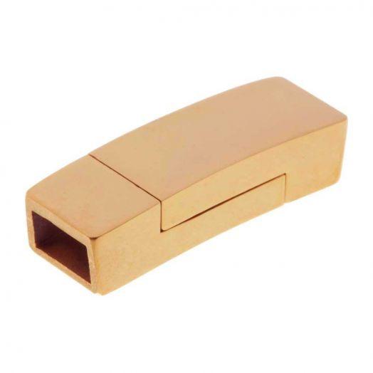 Stainless Steel Magneetslot (Binnenmaat 6 x 3.5 mm) Goud (1 Stuk)