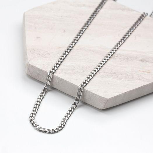 Stainless Steel Ketting Met Grote Schakels (46 cm) Antiek Zilver (1 stuks)