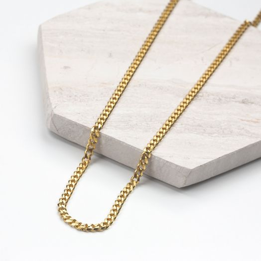 Stainless Steel Ketting Met Grote Schakels (46 cm) Goud (1 stuks)