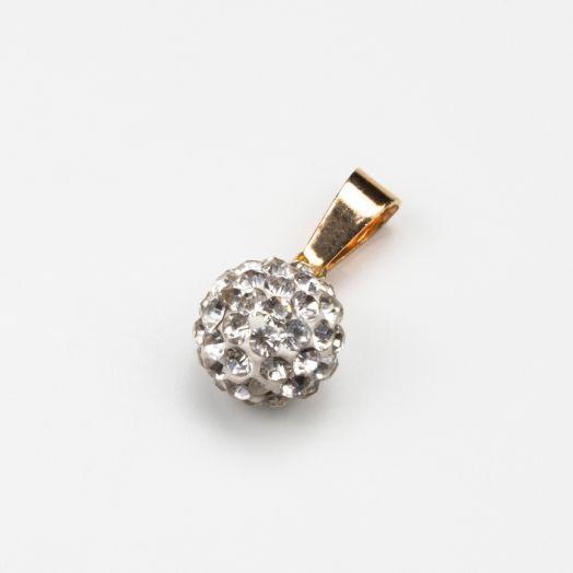 Hanger Shamballa Crystal (10 mm) Goud (1 stuks)