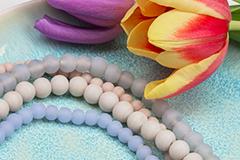 Nieuw: Glaskralen in Matte kleuren