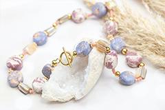 Perles céramiques spéciales en 5 couleurs
