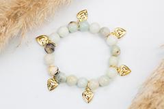 Metal charms and beads