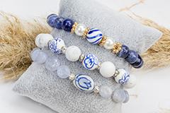 Echte Delfter Blau Perlen